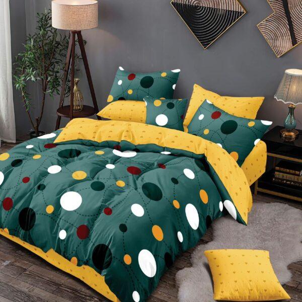 lenjerie de pat verde-galben